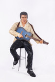 Elvis Statue Sitting on Stool Life Size