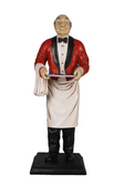Waiter Old Man Butler Life Size Statue 6FT