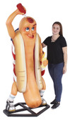 Funny Hot Dog with Bun Display Statue 6FT