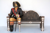 Pirate Sitting on Bench Life Size Statue