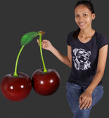 Large Pair of Cherries Statue