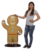 Gingerbread Boy Statue 3.7 FT Christmas Decor