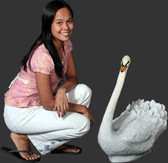 White Swan Life Size Statue
