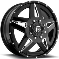 Fuel Off-Road Full Blown Front Dually Wheel - Black & Milled