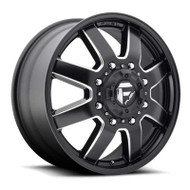 Fuel Off-Road Maverick Front Dually Wheel - Black & Milled