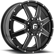 Fuel Off-Road Maverick Front Dually Wheel - Black/Milled/Chrome