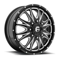 Fuel Off-Road Throttle Front Dually Wheel - Black/Milled
