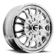 Fuel Off-Road Throttle Front Dually Wheel - Chrome & Black