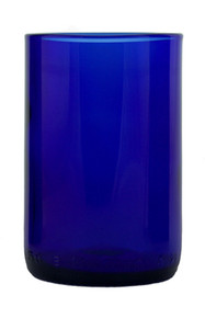 Cobalt Tumblers Made From Riesling Wine Bottles - set of 4