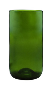 Tall Evergreen Tumblers Made From Bordeaux Wine Bottles  - set of 4