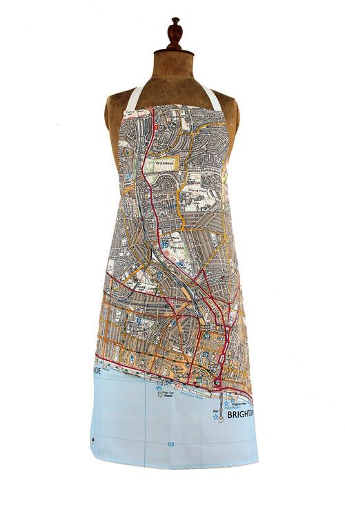 Brighton & Hove map apron jane revitt shop