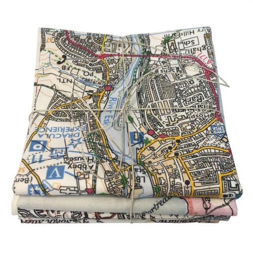 surprise bundle - 3 tea towels of the English coast