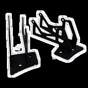 LED Light Bar Mounting Brackets - Jeep JK Series - Double Work Light