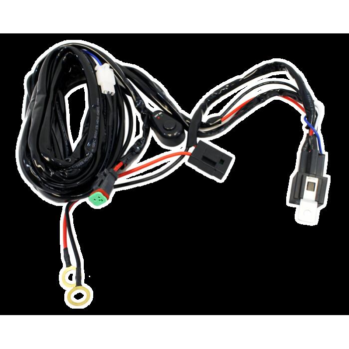 Single Lead LED Light Bar/Worklight Wiring Harness on