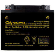 Centennial CTX12BS Powersports Battery