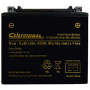Centennial CTX20LBS Powersports Battery
