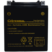 Centennial CTX14AHLBS Powersports Battery