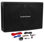 "Rockford Fosgate 8"" Subwoofer Enclosure powered by 150W Class-D amplifier"