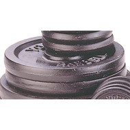 Black 50 lb metal barbell/dumbell plates