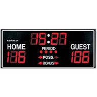"9760 Multi-Sport Permanent Scoreboard w/12"" LED Digits"