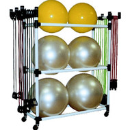 Deluxe exercise ball rack
