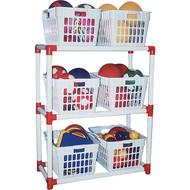Basket rack storage system
