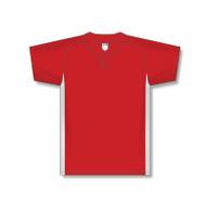 Athletic Knit Adult Dryflex Raglan Sleeve One Button Baseball Jersey