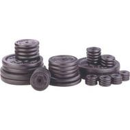 Black 2.5 lb metal barbell/dumbell plate