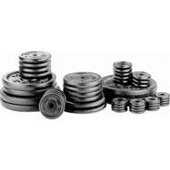 Black 10 lbs metal barbell/dumbell plates