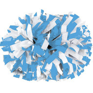"Columbia Blue / White - 6"" Plastic Pom with baton handle"