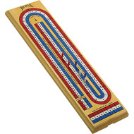 Wooden cribbage board c/w pegs