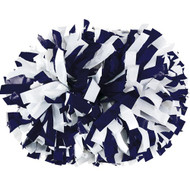 "Navy / White - 6"" Plastic Pom with baton handle"