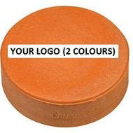 Hockey Puck with 2 colour imprint