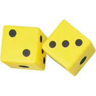 "3"" Coated Yellow Foam Dice (set of 2)"