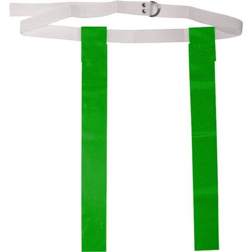 """Deluxe 48"""" Adult Flag Football Belt with D-Rings - Kelly"""