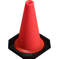 "12"" Weighted Poly Vinyl Orange Flexible Cone"