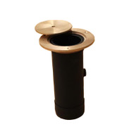 """Two-Piece Floating Wood Floor Socket for 3"""" posts"""