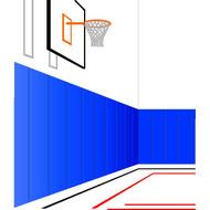 "4'  x 7' x 2"" Permanent Wall Padding (per panel)"