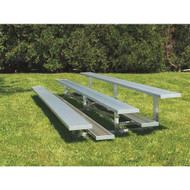 Standard Non-Elevated Aluminum Bleachers (3 row - 15 seats)