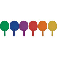 Table Tennis paddles. Set of 6 colours