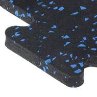"""Puzzle Tile 23"""" X 23"""" X 8mm Buff Blue 10% Inside Tile"""