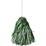 Stock rooter poms -FOREST/WHITE