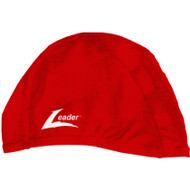 Leader Stock Spandex Pool Caps - RED