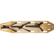 Economy Wood Spine Board including straps