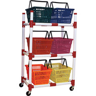 6 Colour PVC Storage Rack
