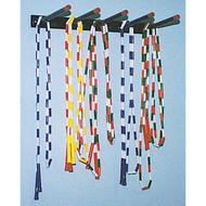 Wall mounted jump rope storage rack