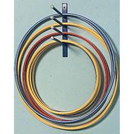 Wall mounted hoop holder