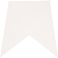 "Economy WHITE Slo Pitch Mat.  17"" x 25"""