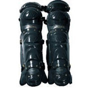 Pro Style Leg Guard with double knee cap - BLACK 1