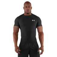 Under Armour Mens Short Sleeve Compression T-Shirt - Black